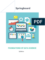 Springboard Foundations of DataScience Syllabusv2