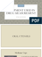 Equipment Used in Drug Measurement
