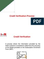 Credit Verification Process