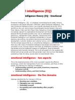 Emotional Intelegence ( EQ)