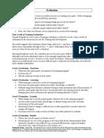Handouts - Evaluation