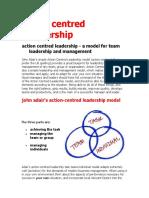John Adairs Action Centered Leadership