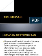 Persentase Air Limpasan