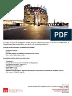Briefing de plénière -  février 2016