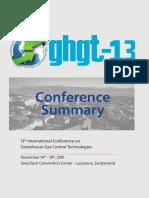 GHGT-13 Summary Brochure
