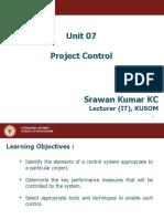 Unit 07 Project Control