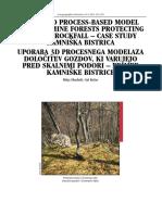Uporaba 3D Procesnega Modela Za Določitev Gozdov, Ki Varujejo Pred Skalnimi Podori - Primer Kamniške Bistrice