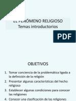 El Fenómeno Religioso