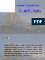 Golden Triangle Tour | Golden Triangle Holidays - Citrus Holidays