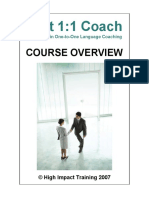 1 2 1 Training Course Brochure