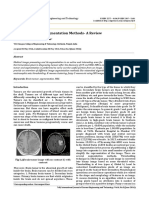 MRI Brain Tumor Segmentation Methods- A Review