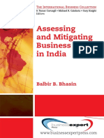 Assessing and Mitigating Business Risks in India