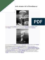 Bombardamentele Atomice de La Hiroshima Și Nagasaki