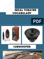 Technical Theater Vocabulary