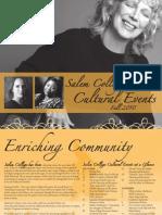 Salem College Cultural Events - Fall 2010