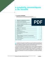 Extraction de Produits Aromatiques Des Goudrons de Houille