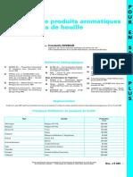 Extraction de Produits Aromatiques Des Goudrons de Houille_Re