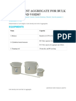 How to Test Aggregate for Bulk Density and Voids