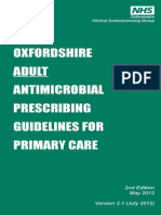 Oxfordshire ADULT Antimicrobial Prescribing Guidelines for Primary Care