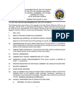 Lansing (MI) City Council meeting info packet for August 2