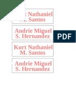 Name Plate Exl
