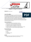 living environment course overview  final