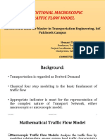 Basic Macroscopic Traffic Flow Model