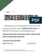 Certificado Defensa Civil