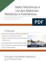 Propriedades Mecânicas Metais e Polímeros