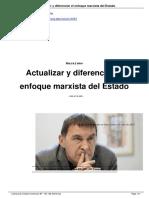 [Birh] Actualizar y Diferenciar El Enfoque Marxista Del Estado