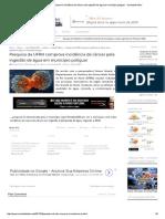 Pesquisa Da UFRN Comprova Incidência de Câncer Pela Ingestão de Água Em Município Potiguar - Sociedade Ativa