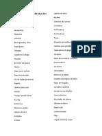 Lista de Materiales Sala 211