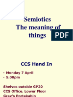 SEMIOTICS the Meaning of Things