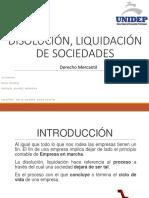 Disolucion y Liquidacion de Las Sociedades Mercantiles