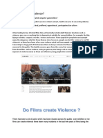 do films cause violence