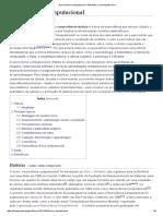 Neurociência Computacional – Wikipédia, A Enciclopédia Livre
