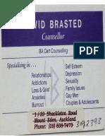 David Brasted's Card