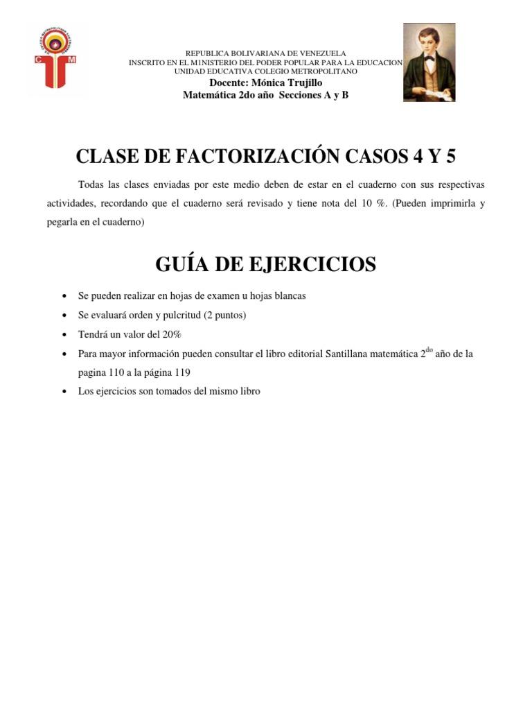Factorizacion 4