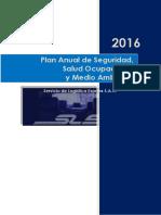 Plan Anual de Seguridad, Salud y Medio Ambiente para empresa de transporte