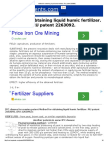 Method for Obtaining Liquid Humic Fertilizer. RU Patent 2263092