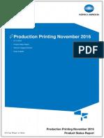 Product Status Report - Production Printing (November 2016)