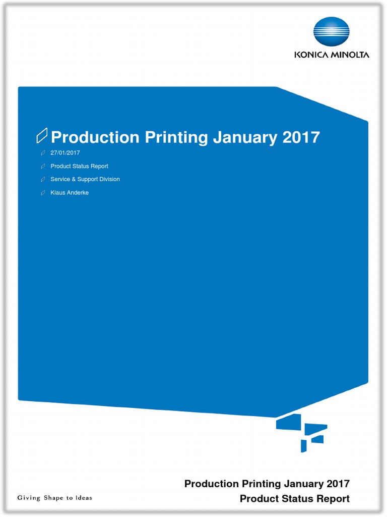 Product status report production printing january 2017 email product status report production printing january 2017 email websites fandeluxe Images