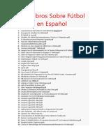 213 Libros Sobre Fútbol en Español