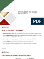 Final Exam Prep