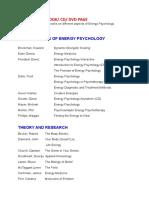 Energy Psychology Books
