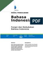 Fungsi 2 Dan Kedudukan Bahasa Indonesia