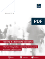 Tackling the Barriers to Leadership 2014 Case Study