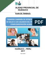 Primera Campaña de Atención Integral de Salud Del Programa de Complementación Alimentaria