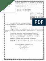 Decreto Comissão de Licitação 2016