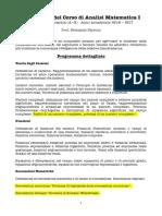 AA1617 Programma Analisi 1 Meccanica